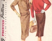 Vintage Simplicity 1719 Junior / Misses' Two-Piece Suit Sewing Pattern c.1956