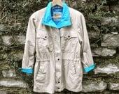 80s London Fog Safari - Trench Jacket Womens 6 Petite, Men XS