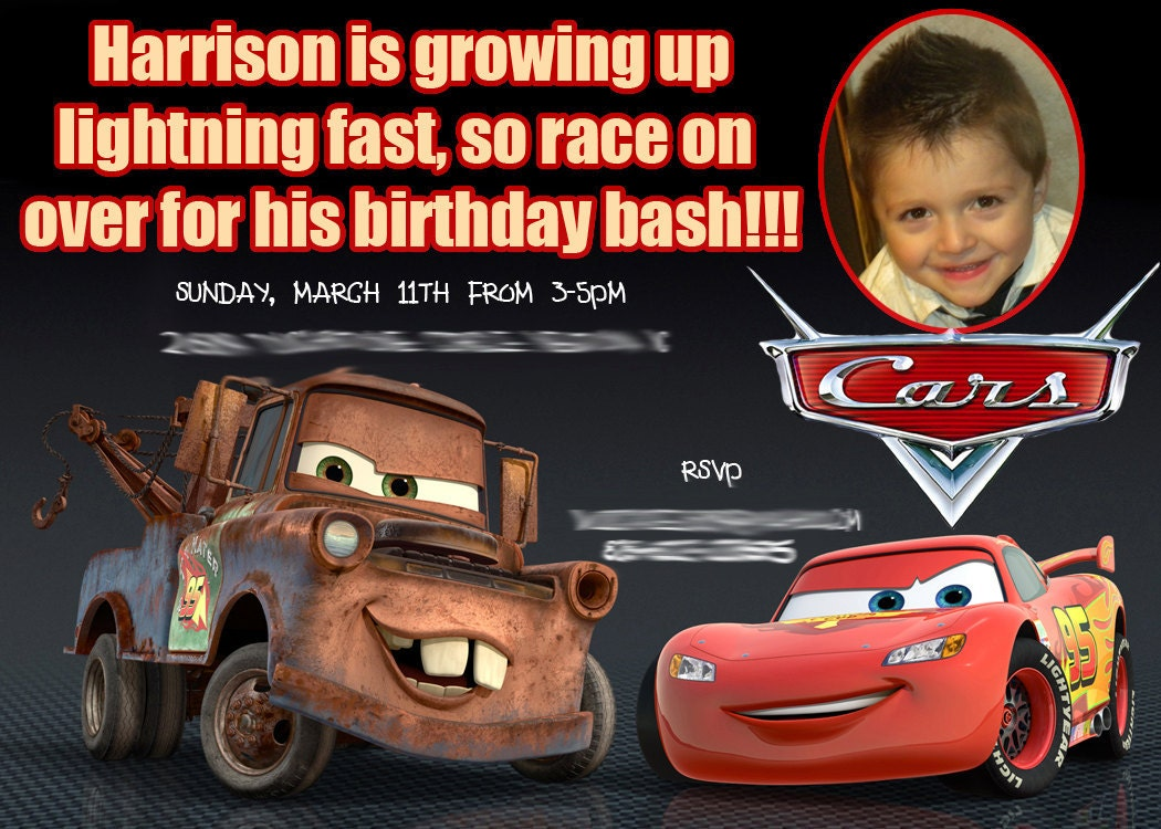 custom cars birthday invitation custom cars birthday invitation 🔎zoom