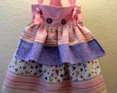 Spring Colors - Girls Knot Dress with Apron