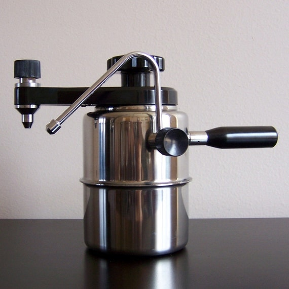 Metal Coffee Maker For Stove : Vintage Via Veneto Stainless Steel Stove Top Espresso Maker