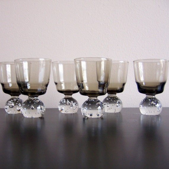 Set of 6 Aseda Controlled Bubble Cocktail Glasses Cordials