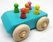Toy Car - Wooden Toy Car - Kids Toy Car - Natural, Organic Wood Car for Children and Toddlers