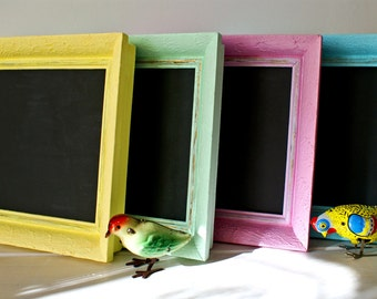 Back To School... Chalkboard  Vintage Frame..Upcycled Frame ...Cottage Chic...Coastal Style...Beach Chic... Shabby Chic