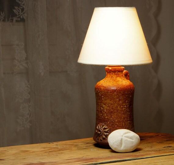 Rustic CharmCeramic Lamp Pottery Lamp Bedside Lamp