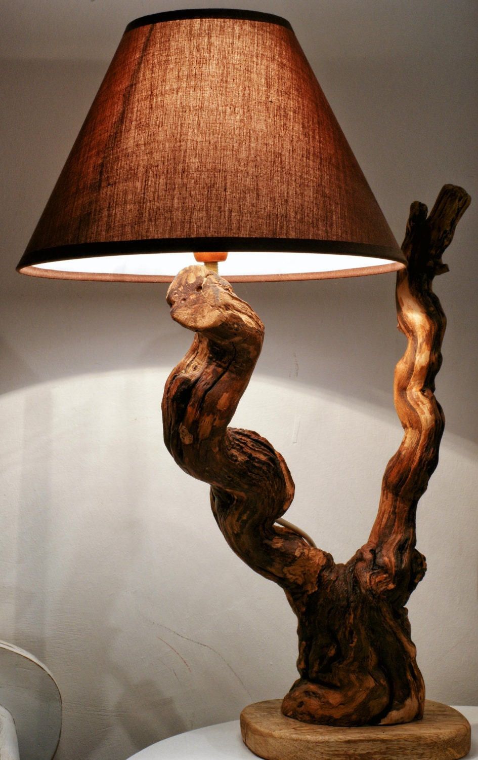 driftwood lamp sculpture natural design driftwood