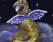 Golden retriever angel print