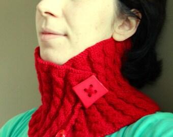 Red Handknitted Neck Warmer