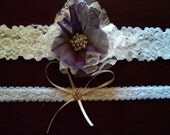 Wedding garter and toss set......Free shipping in US