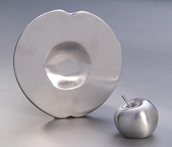 Rosh Hashanah 2 Piece Set - Rosh Hashana Plate AND Ornamental Apple ( Free S&H in the US)