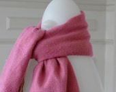 Scarf pink & gold made in PARIS from weaving fabric