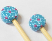 Cornflower Floral Knitting Needles