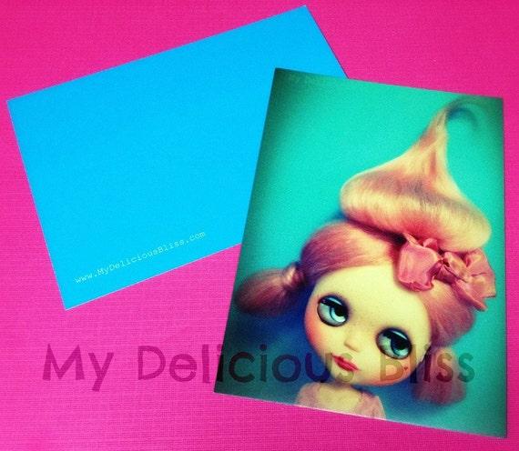 Pink Poodle Pouf, Blythe Photography Postcard