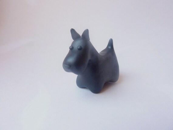 Scottie Dog - scottish terrier totem desk buddy pet sculpture cake topper decoration Handmade polymer clay miniature figure
