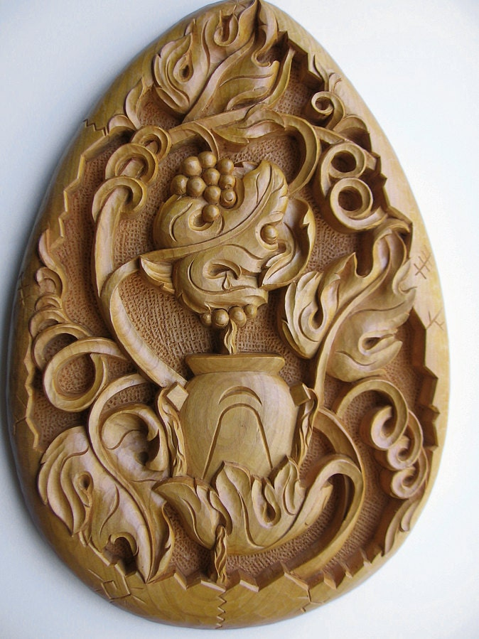 Ooak oval wall hanging panel filling in handmade wood
