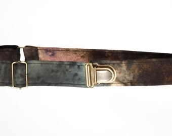 Hand dyed printed belt