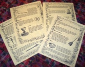 Book of Shadows pages Wiccan Tools and Supplies