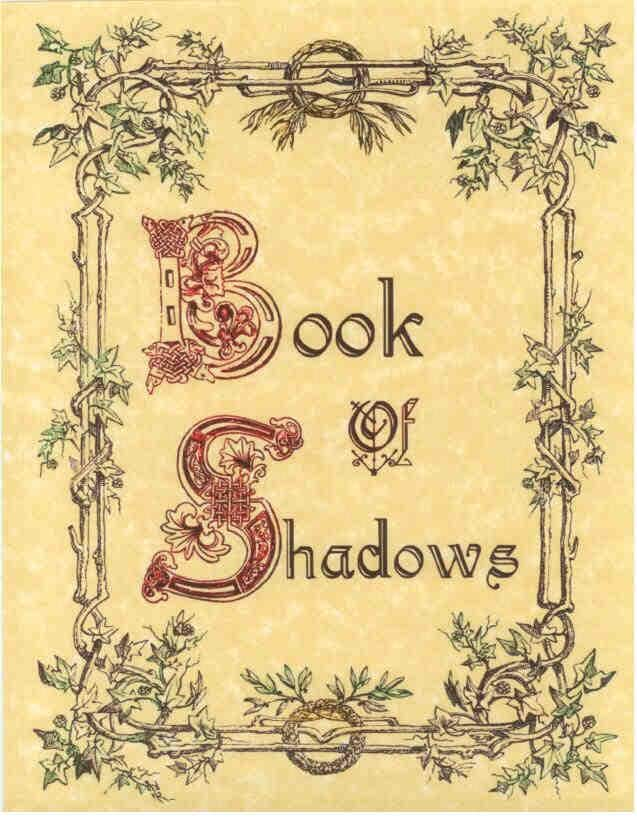 Book Of Shadows Cover Diy ~ Book of shadows cover page