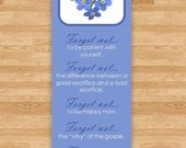 Forget Not Quote Bookmark - Forget Me Not Flowers - Dieter F. Uchtdorf Handout