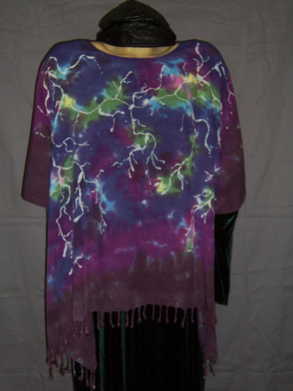Lightening Batiked & Hand Dyed Poncho