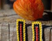 AFRIKA - Beaded handmade earrings realized with a hand loom