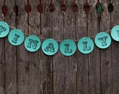 """Wedding paper circle hanging sign - """"Finally"""" - funny, rustic, chic"""