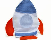Blue Rocket soft toy for baby and kids Plush Soft doll Cherry pits or spelt pillow