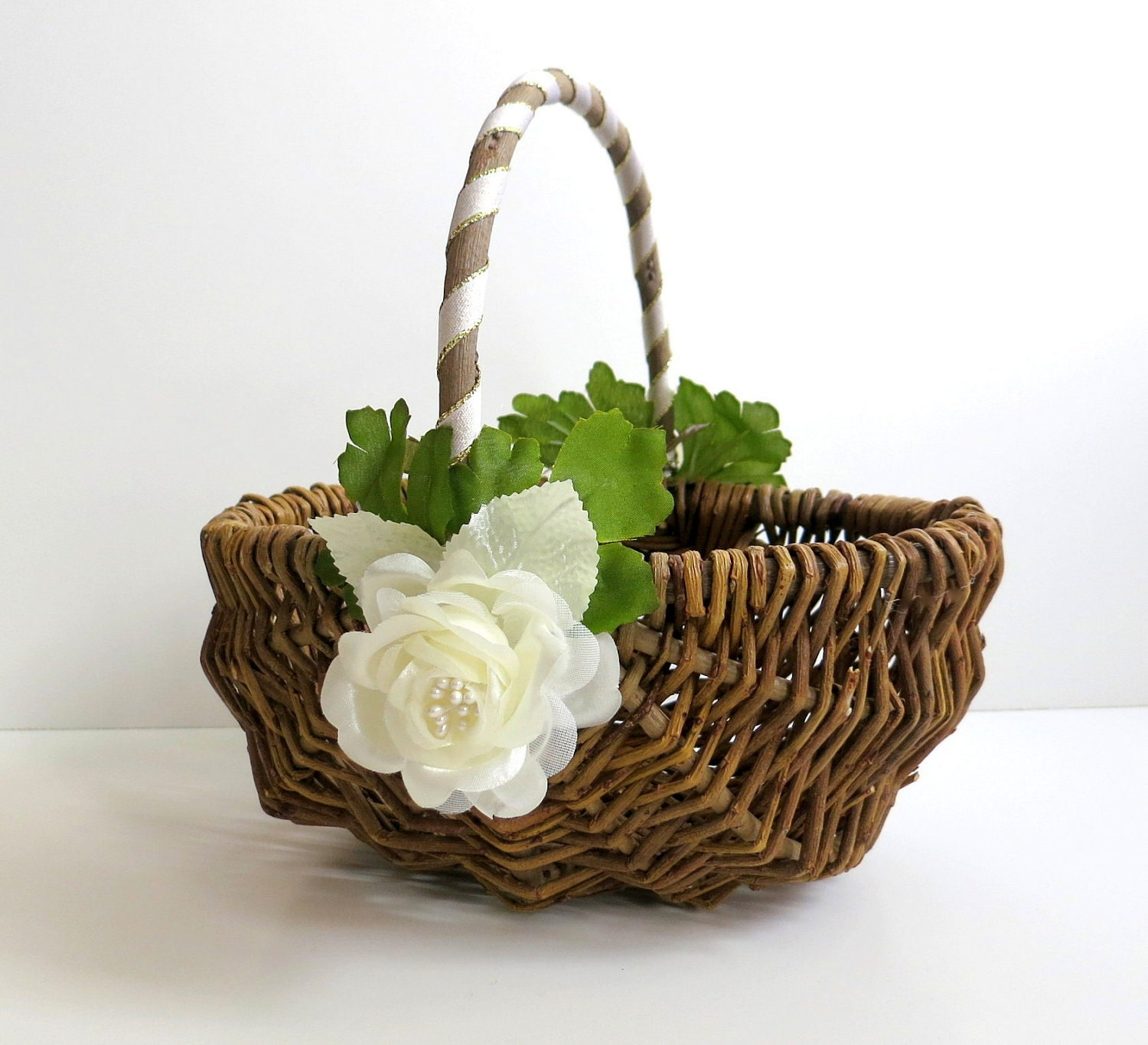 Flower Girl Basket Rustic Flower Girl Basket Twig Flower