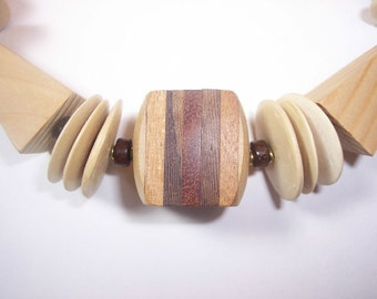 Casual Friday Wooden Necklace