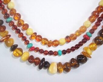 Amber Lights Multi-Strand Necklace