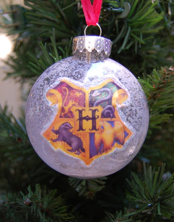 harry potter hogwarts inspired christmas tree ornament