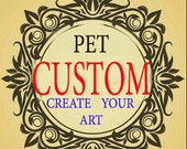 COMMISSION  PET watercolor portrait