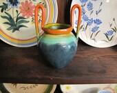 Stangl Pottery Sunburst Hand Thrown Arts Crafts High Handled Vase