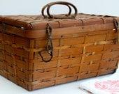 Vintage basket- Reserved for teresa