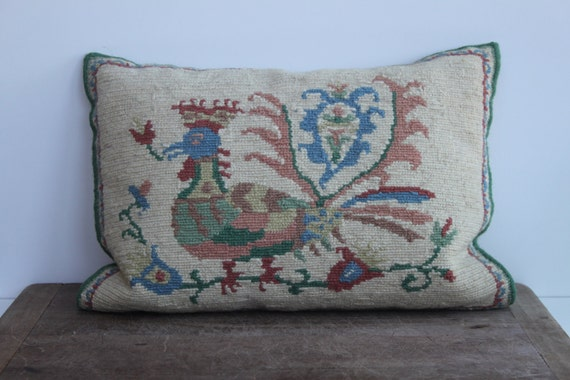 Hand woven and hand stitched pillow - Free shipping in USA