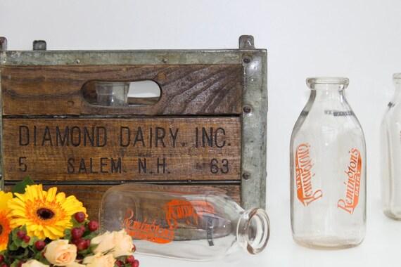 Vintage Glass milk bottles - set of 3