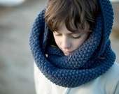 Infinity Scarf Hand Knitted Extra Long Cowl