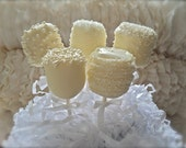 Edible White Wedding Favors Chocolate Dipped Marshmallows Frost The Cake
