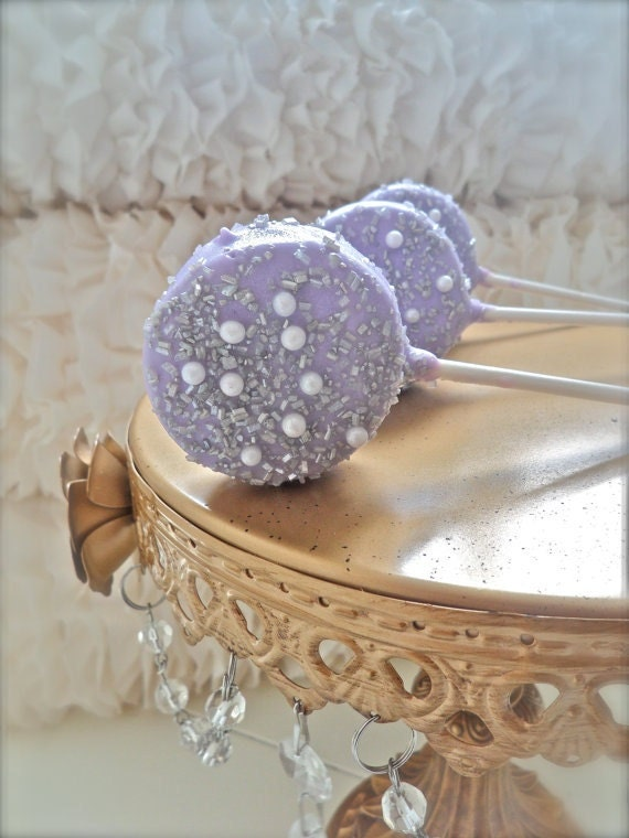 Edible Wedding Favors Silver And Purple Chocolate Dipped Oreos