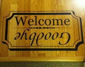 Welcome Mat Decal for Doorway Entry