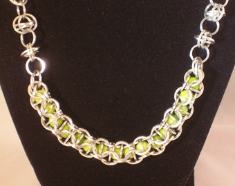 Aluminum, Catching Fire Necklace (Green)