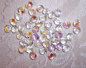 Gorgeous  CZECH Crystal AB 6mm Round Glass Beads- Package of 50 - Vintage