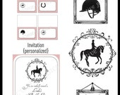 Printable Pary Package - Equestrian Horse Party