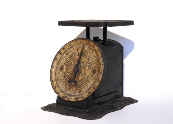 Items similar to vintage rustic antique metal country for Rustic kitchen scale