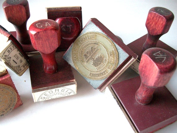 RESERVED Vintage Rubber Stamps 9 Stampers Engineer, Engineering Seals for Arts and Crafts, Projects, Multi Media, Ink Work