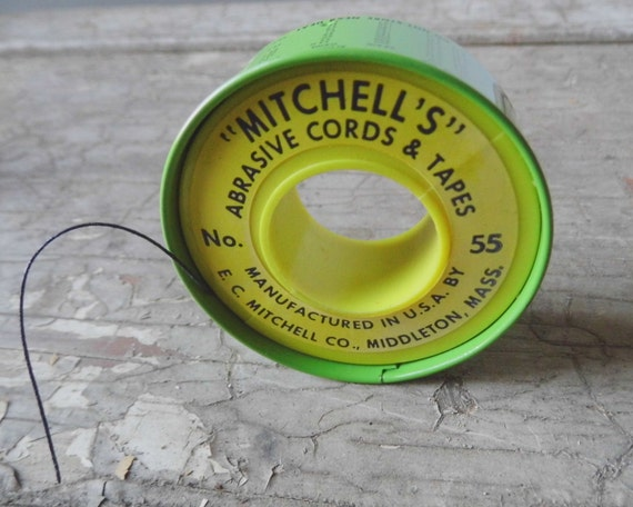 Vintage Waxed Cord, Mitchell's Tin and Plastic Container, Industrial, Home and Office Supplies
