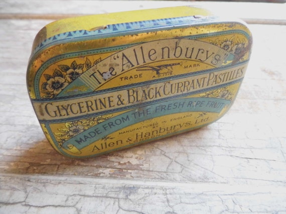 RESERVED R Vintage Candy Tin, Made in England, Blackcurrants, Collection, Industrial, Cottage Chic, Lodge