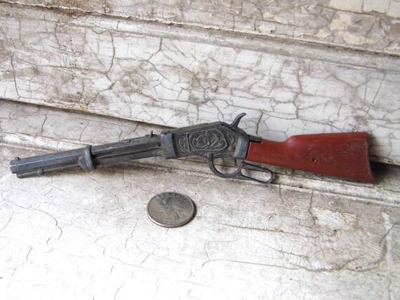 Vintage Miniature Western Cap Gun, Die Cast Metal, Man, Mens
