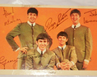 Beatles postcard-mailed in 1964-Very good condition