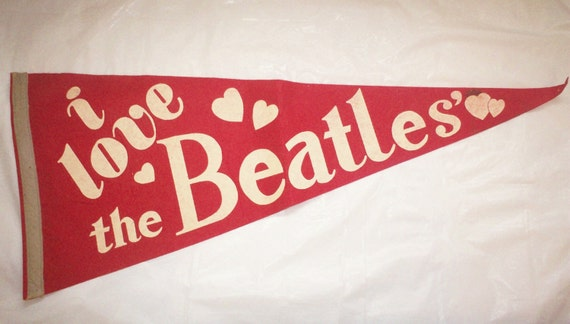 Beatles Pennant-1965-i love the Beatles